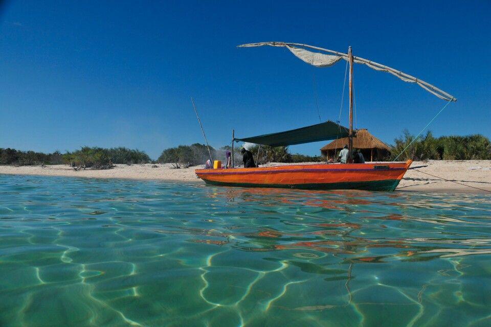Dhau vor der Küste Mosambiks