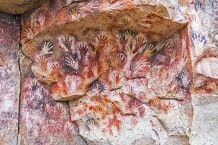 Höhlenmalerei in der Cueva de las Manos