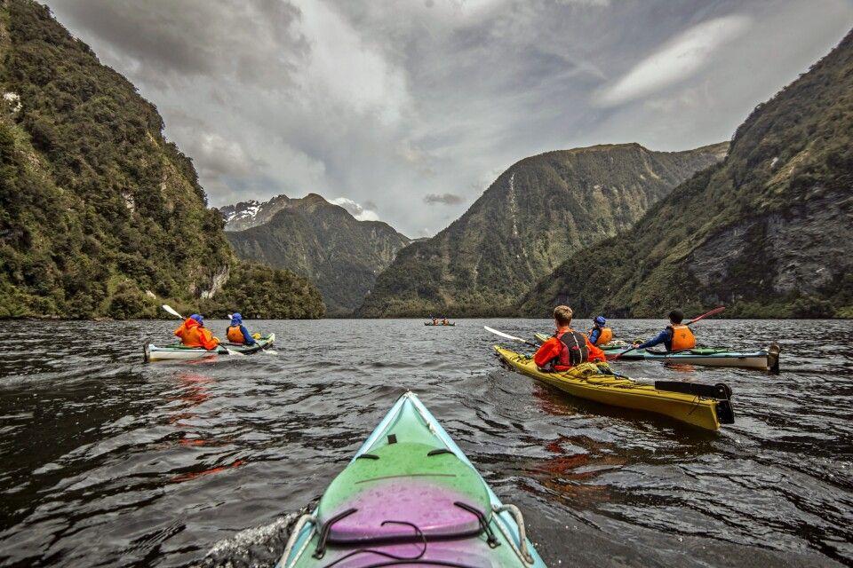 Kayakfahren im Sound
