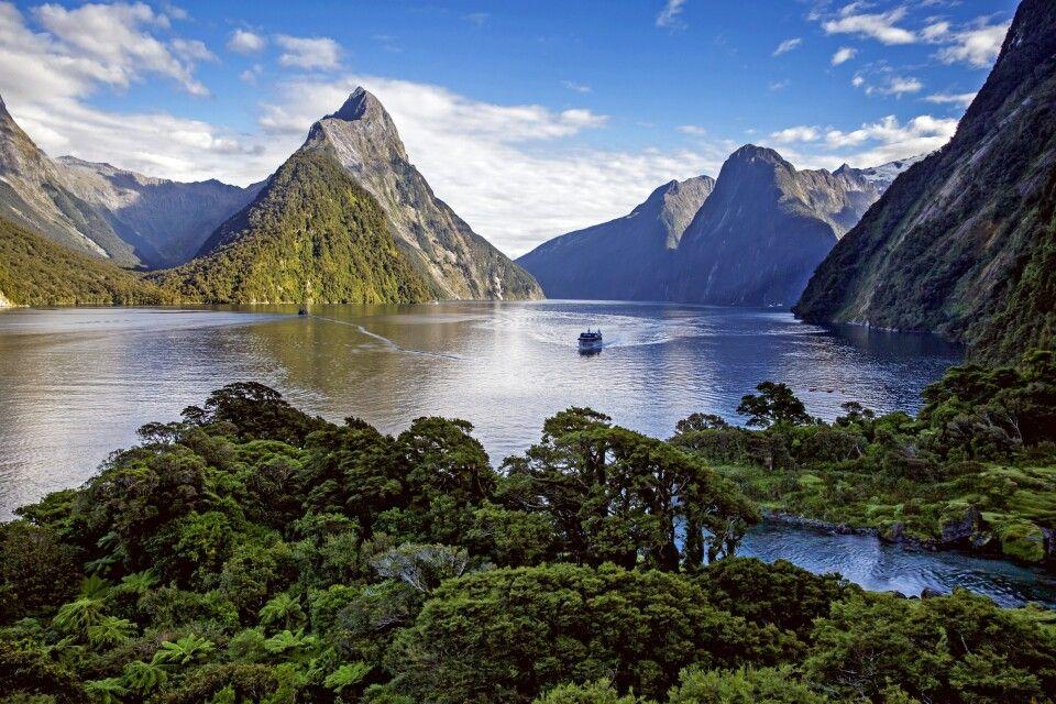 Landschaftsblick auf Milford Sound