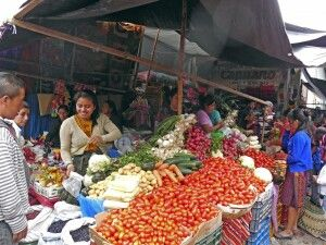 Auf dem berühmten Markt in Chichicastenango
