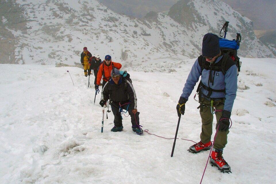 Aller Anfang am Gletscher ist steil