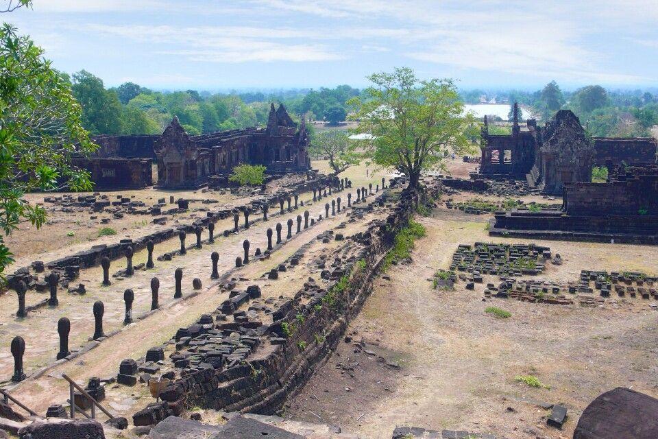 Die kleine, aber feine Anlage von Wat Phou in Südlaos