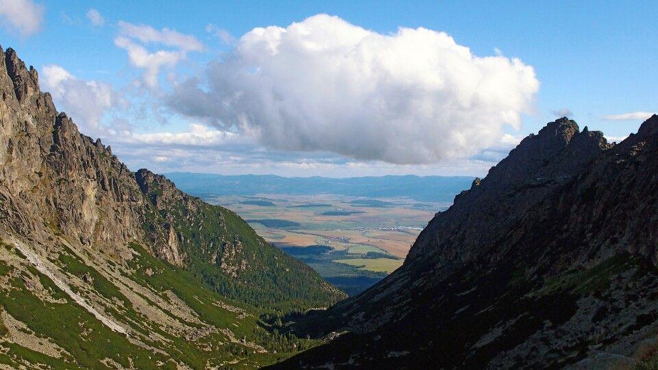 Blick zur Téryho-Hütte