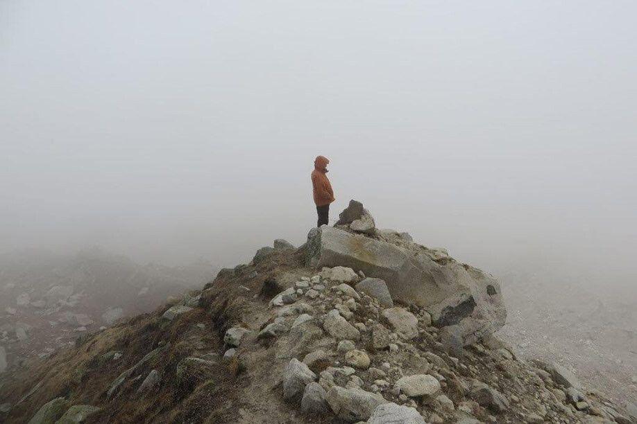 Auf der Gletschermoräne des Gangotri-Gletschers