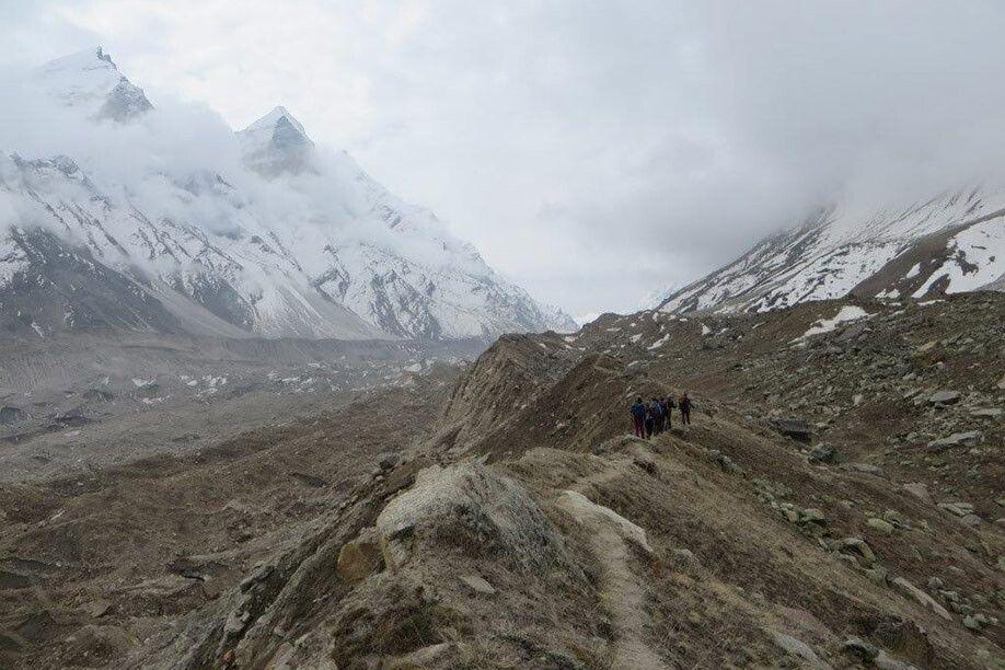 Am Gangotri-Gletscher entlang