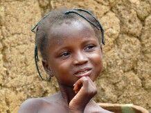 Burkina Faso, Bamako, bei den Birifor, Maedchen