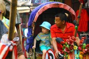 Rikscha-Fahrt in Kathmandu