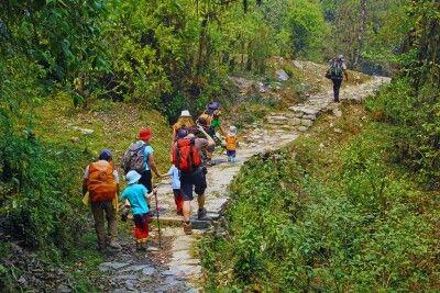 Wanderer in der Annapurna-Region