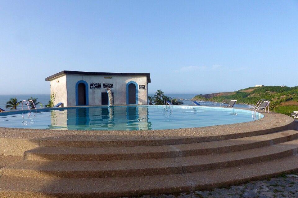 Ghana, Biriwa Beach Hotel, Pool