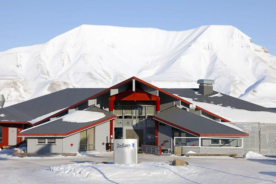 Radisson Blu Polar Hotel im Winter