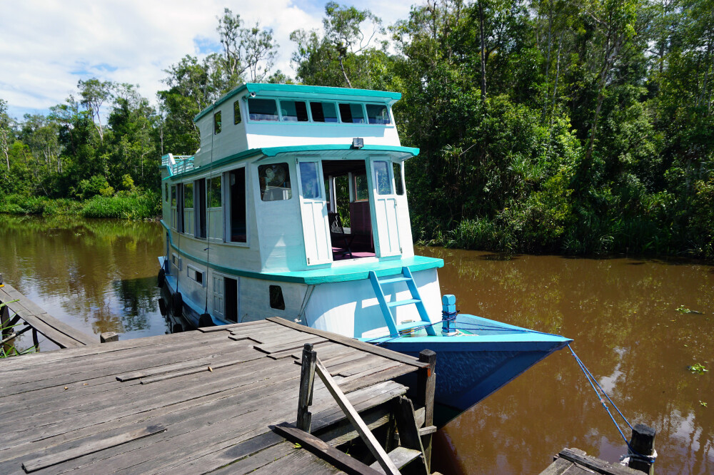 Flussboot – Klotok im Tanjung Puting NP