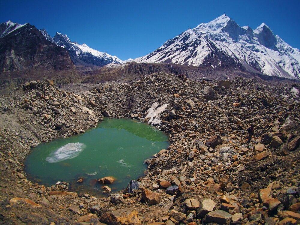 """Die """"grünen Augen"""" des Gangotri-Gletschers"""