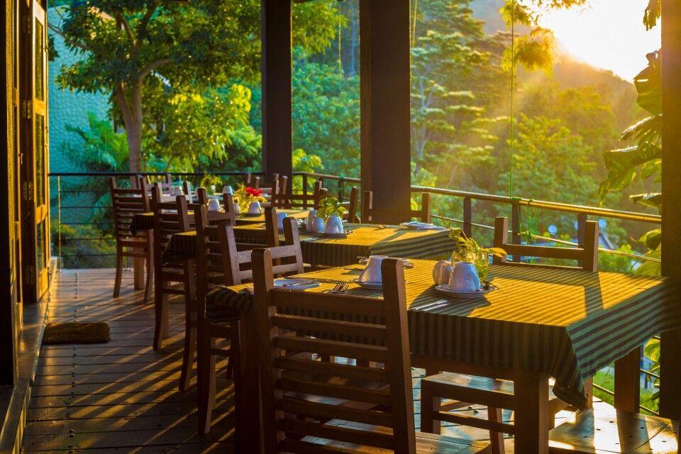 Frühstück im Melheim Resort, Beragala