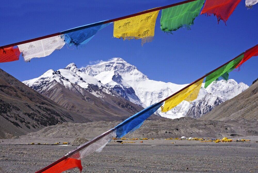 Gebetsfahnen am Mount-Everest-Basislager