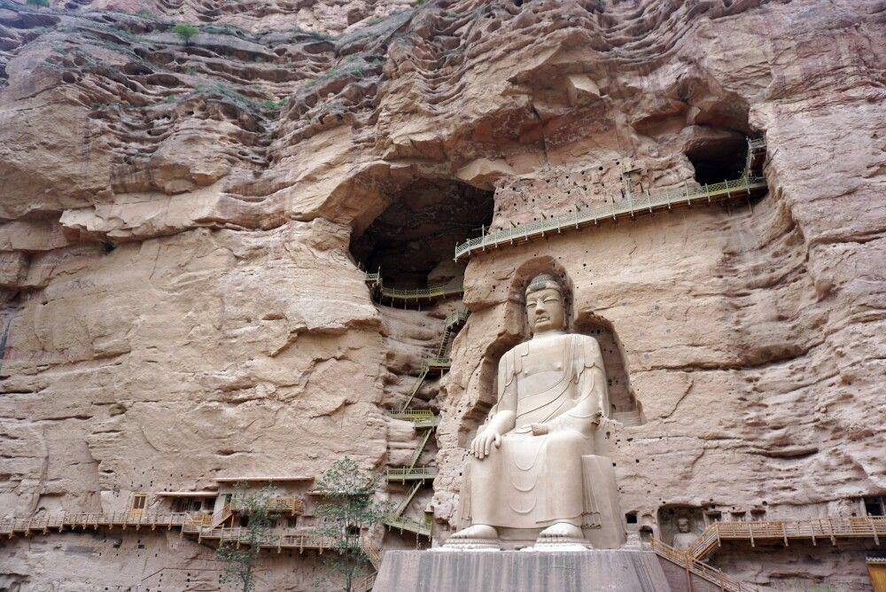 Bingling-Grotten bei Lanzhou