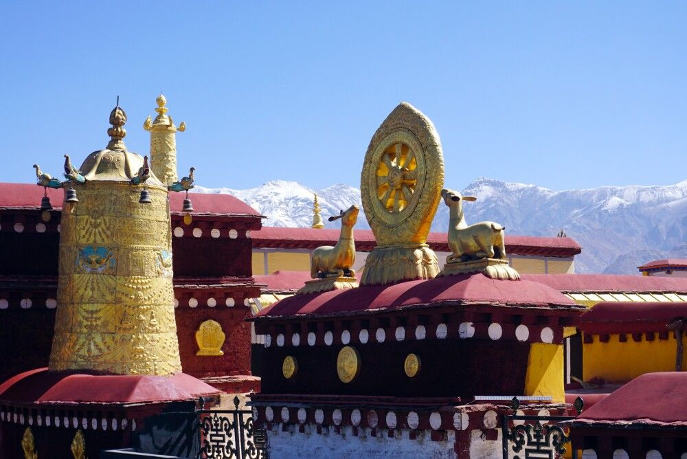 Blick vom Jokhang-Tempel in Lhasa
