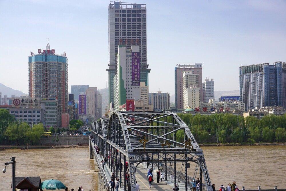 Zhongshan-Brücke in Lanzhou