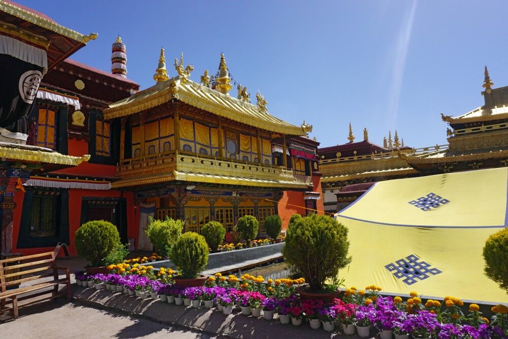im Jokhang-Tempel in Lhasa