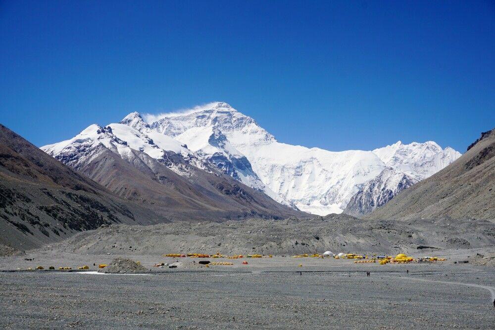 Mount-Everest-Basislager auf tibetischer Seite