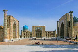 Einer der schönsten Plätze der Welt – der Registan in Samarkand