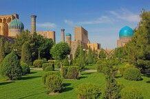 Parkanlage direkt hinter dem Registan in Samarkand