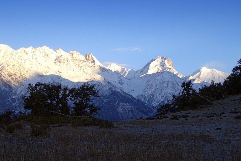 Ausblick von Nagthali nach Westen Richtung Ganesh Himal