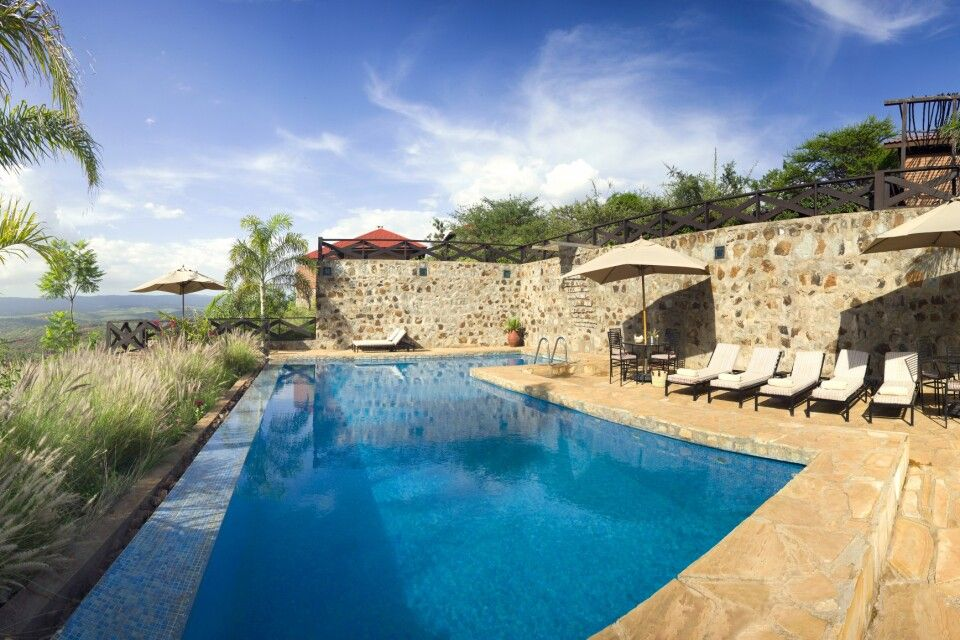 Pool der Bashay Rift Lodge
