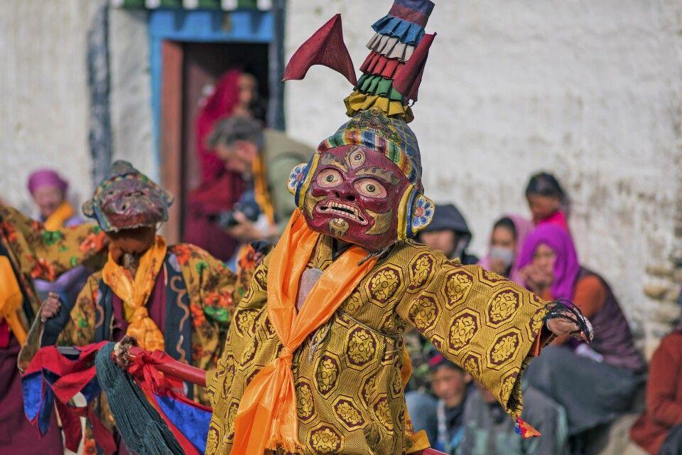 Maskentanz beim Tiji-Festival in Lo Manthang
