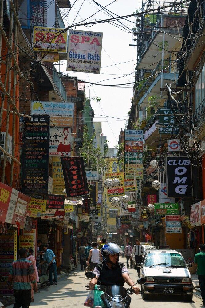 Hektisches Treiben in Thamel, Kathmandu