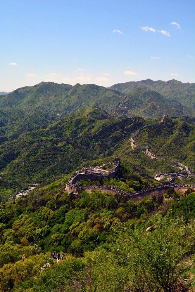 Spaziergang auf der Chinesischen Mauer in Badaling