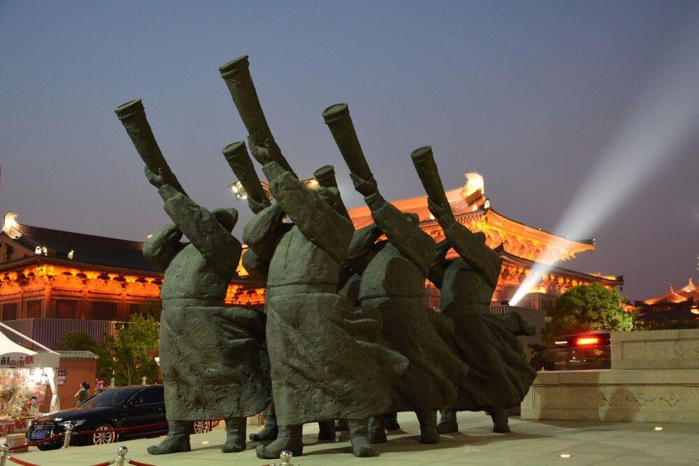 Altstadt von Xian bei Nacht