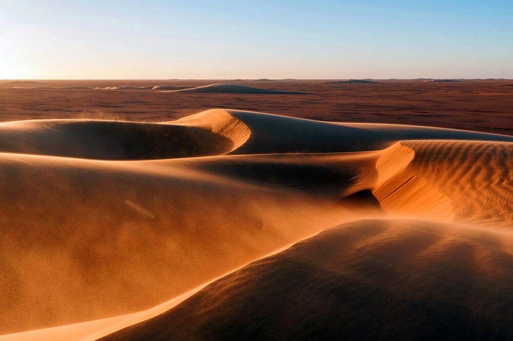 Wüstenlandschaft im Tschad