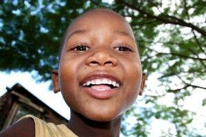 Begegnung im Zulu-Dorf