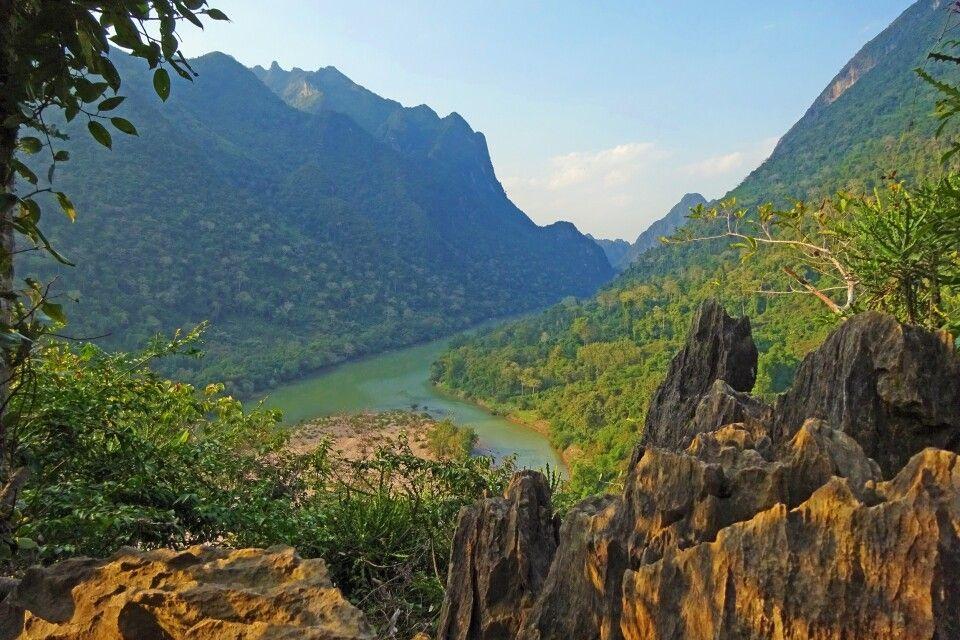 Aussichtsberg in Muang Ngoi Kao