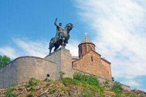 Der Wachtang wacht über die Hauptstadt Tiflis.