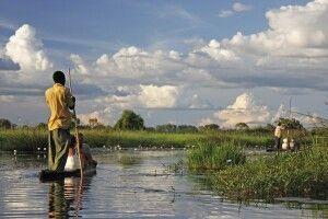 Lautlos unterwegs im Mokoro