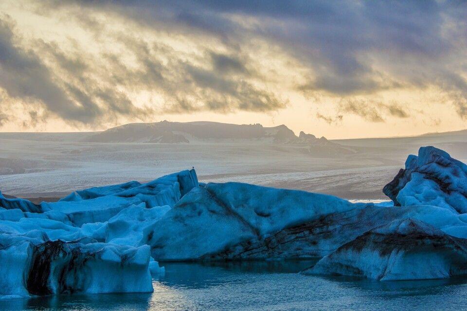 Gletscherlagune im Süden