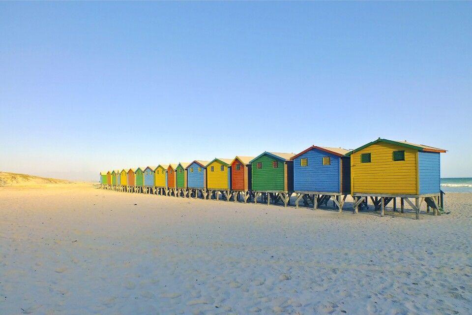 Strandhäuschen bei Muizenberg, Kapstadt
