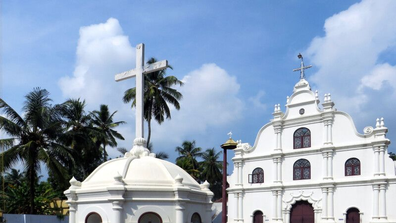 Fort Kochi (Mattancherry), Kerala – portugiesische Kirche © Diamir