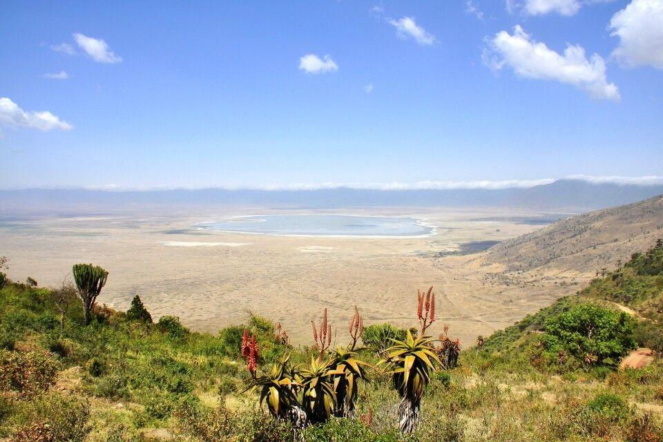 Blick in den Ngorongoro-Krater