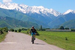 Mountainbiketour vor prächtiger Kulisse