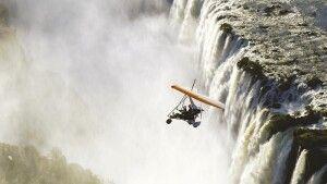 Flug über die Victoriafälle