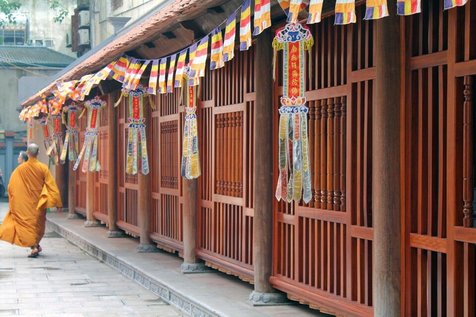 Buddhistische Pagode in Hanoi