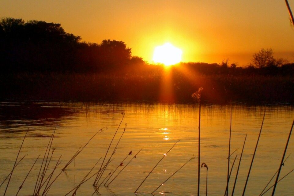 Sonnenuntergang über dem Thamalakane