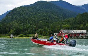 Bootsausflug von der Tweedsmuir Lodge