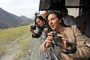 Aussichtsplattform im Wagon für tolle Fotos