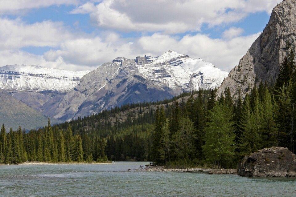 Beeindruckende Bergkulisse der Rockies