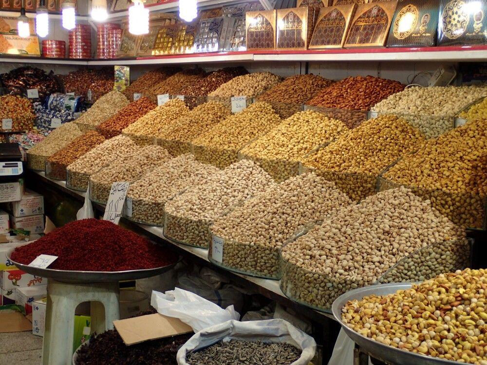 Leckereien im Bazar von Teheran.