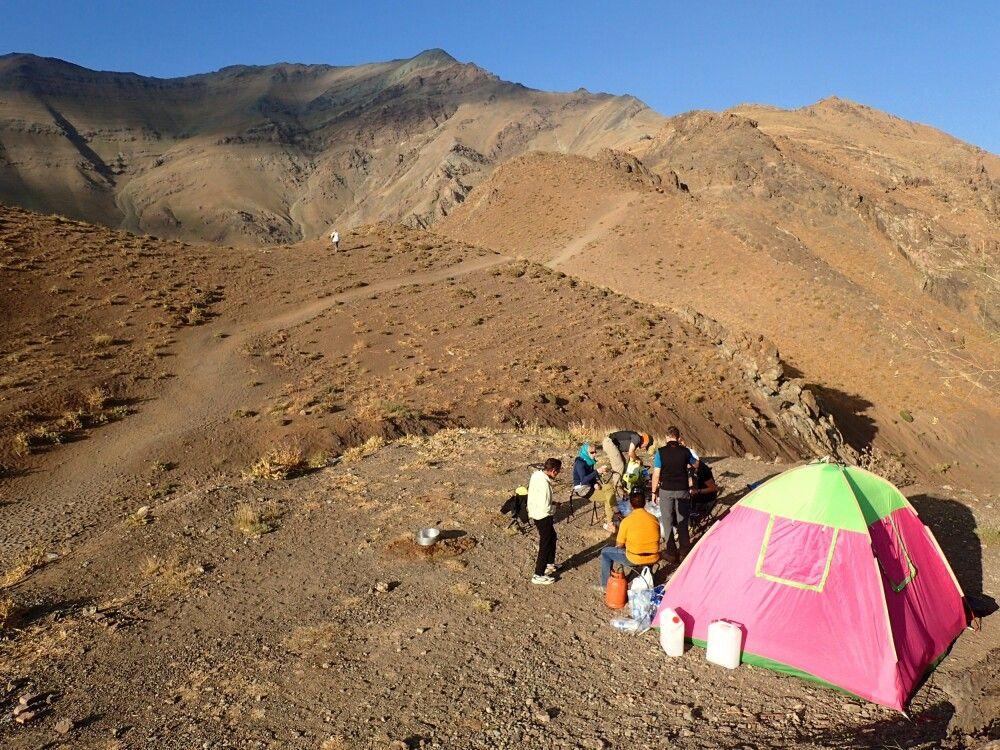 Zeltlager am Koloun Bastak